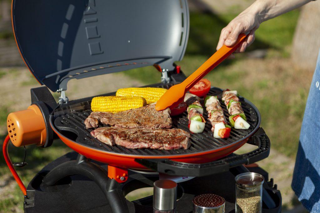 Barbacoa con carne y verduras