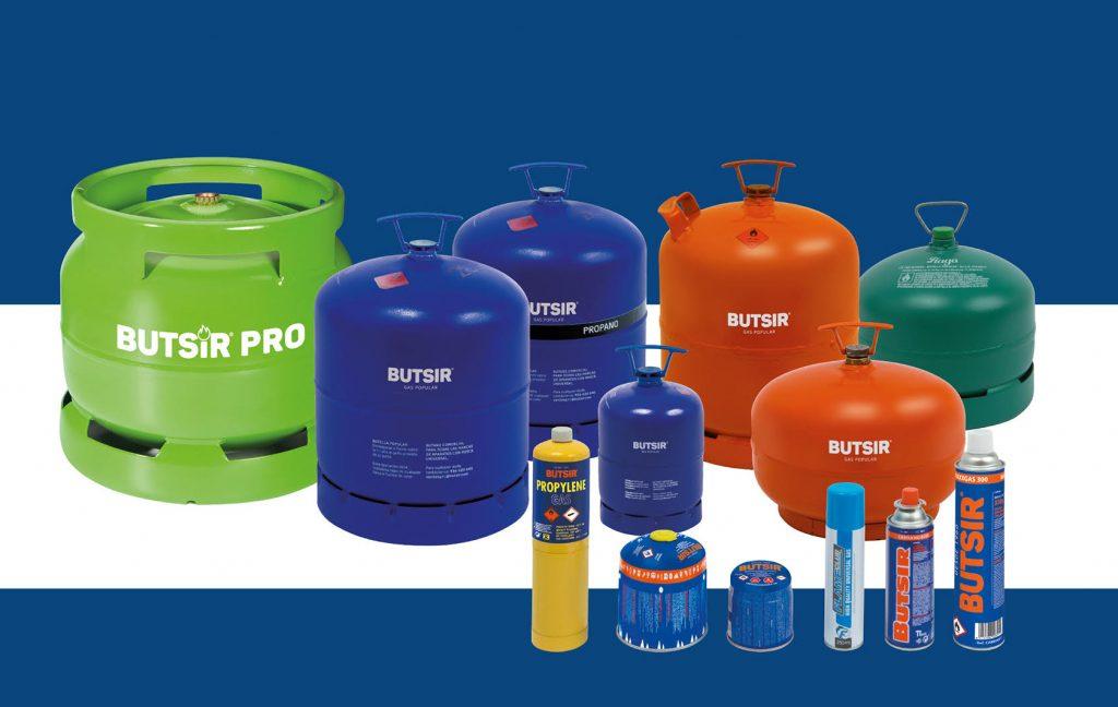 Botellas y cartuchos de gas BUTSIR